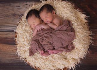 kuschelnde Zwillinge